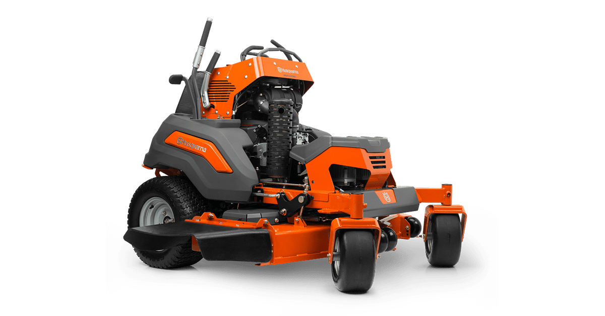 husqvarna v500 stand on mower